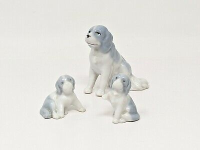 $ CDN25.37 • Buy German Porcelain Dog Figurines Blue And White Mother With Puppies