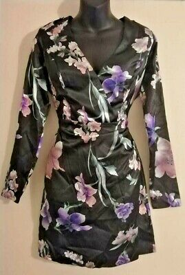 HUGE WINTER SALE!!! Floral Black Kimono Dress Originally For Lipsy RRP £50 • 6.99£