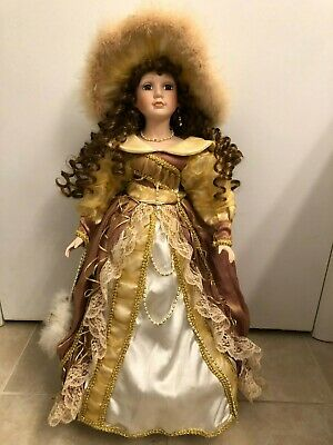 $ CDN32.67 • Buy Beautiful Victorian Collection  Porcelain Doll 25  Tall With Stand