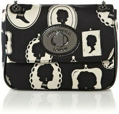 Lulu Guinness Cameo Frame Print Small Eyelet Annabelle Shoulder / Clutch Bag • 112.99£