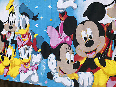 Big Mickey Mouse Cotton Fabric . For Kids Bedding,Nursery Decor,DIY. BTY • 7.93£