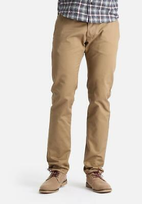 BNWT Mens Edwin Natural Skinny Chinos Trousers Cotton Selvage Beige W32 L33 • 50£