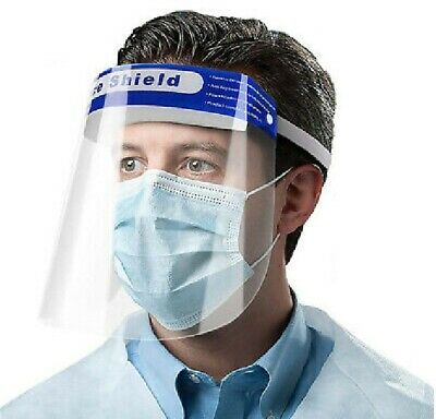 £1.49 • Buy Full Face Shield Visor Protection Mask Sheild Safety Clear PPE New Masks Face