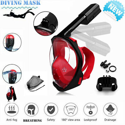 AU24.99 • Buy 2020 Adult Full Face Diving Mask Swimming Scuba Snorkel Dry Pipe For Gopro AU