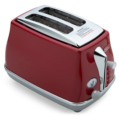 AU125 • Buy NEW DeLonghi Icona Capitals 2 Slice Toaster CTOC2003 T. Red