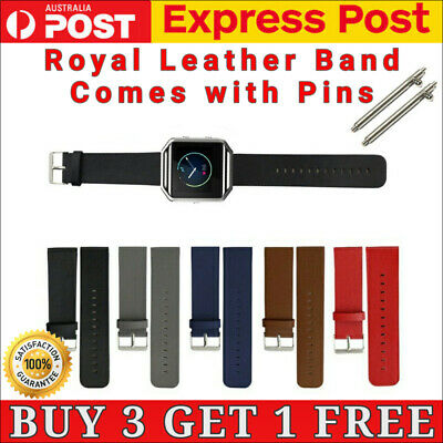 AU7.99 • Buy Watch Strap For Fitbit Blaze Band Leather Replacement Link Wristband With Pins