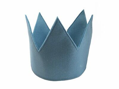Baby Blue Felt Party Hat, Birthday Crown, Perfect For Making Memory Moments • 12£