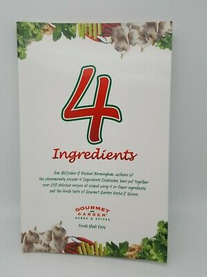 AU8 • Buy 4 INGREDIENTS Cookbook- Like New- 144 Pages,  Over 250 Easy Recipes