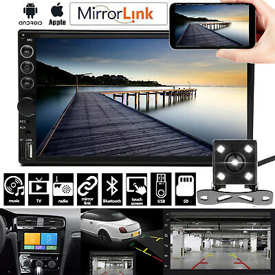 $78.81 • Buy Double Din Car Stereo And Backup Camera Touch Screen Radio Mirror Link For GPS