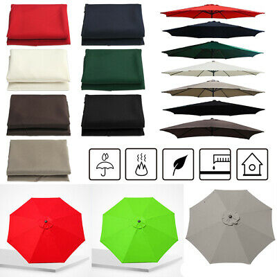 300cm Outdoor Umbrella Surface Replacement Rainproof Fabric Garden Parasol • 21.63£