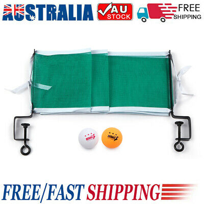AU13.54 • Buy Table Tennis Set Tennis Net With 2 Ping Pong Balls And Posts X3J1