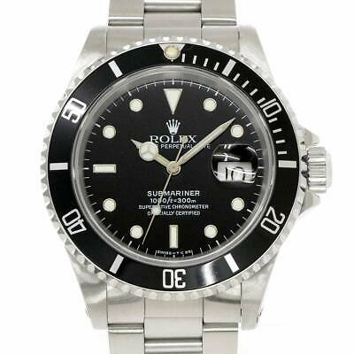$ CDN10557.72 • Buy ROLEX Submariner Date 16610 Serial X Automatic Black Dial Mens Watch 90103666