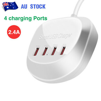 AU24.88 • Buy 4 Port USB Hub Charging Station Desktop Fast Charger For IPhone Samsung HUAWEI