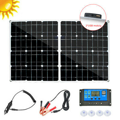 250W 200W Solar Panel Battery Charger Kit Car + 10A/30A/50A Dual USB Controller • 41.99£