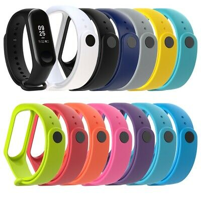 $0.99 • Buy For Xiaomi Mi Band 4/3 Silicone Smart Strap Wristband Watch Band Replacement NEW