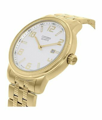 Citizen Quartz Mens Dress Watch WR 30M BI0992-51A Gold Plated Steel UK Seller • 124.95£