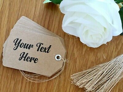 Personalised Kraft Gift Tags With Optional Silver Eyelet And Twine • 0.99£