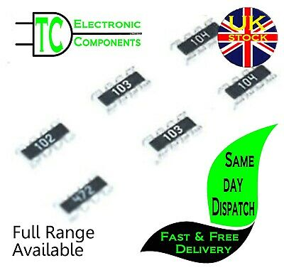 $2.61 • Buy 0603 SMD Resistor Network (8P4R) 5% 0 Ohm - 1M Ohm (133 Values Available)