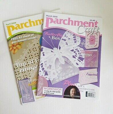 Parchment Craft Magazine X 2 // April 2008 & March 2009 // • 6.99£