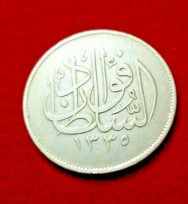 $245 • Buy Egypt Antaque Silver Coin  10 Piasters '' Sultan Fuad  Issued 1920 Excellent