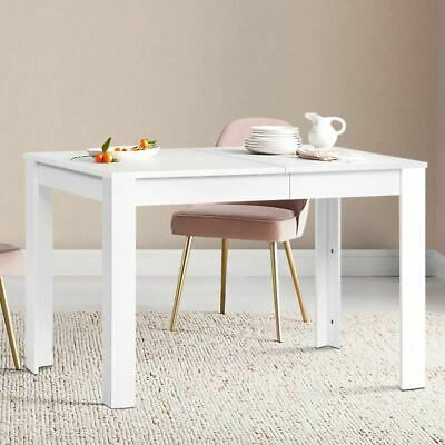 AU85.95 • Buy Wooden Dining Table 4 To 6 Seater Sturdy Kitchen Cafe Restaurant Furniture White