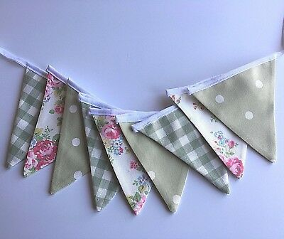 Cath Kidston SPRAY  FLOWERS Laura Ashley Heath Green  GINGHAM   GIFT  FREE P & P • 9.95£