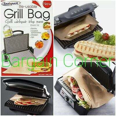 Grill Bag Food Bag REUSEABLE. Paninis Toasted Sandwiches Meat Chicken. USE & USE • 2.98£