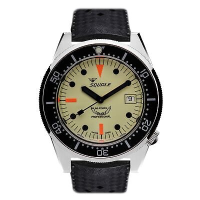 $ CDN1681.14 • Buy Squale 1521OFULL 500 Meter Swiss Automatic Dive Wristwatch Rubber