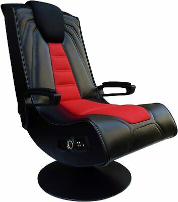 £242.98 • Buy Pedestal Gaming Chair For Xbox PS4 Speakers Wireless Video Vibrate Sound Swivel