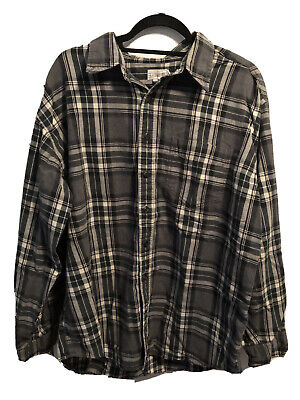 $14 • Buy Vintage J Crew High Quality Long Sleeve Mens Flannel Button Up XL