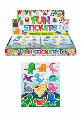 6 Sheets DINOSAUR Stickers Boys Childrens Party Bag Fillers Kids Craft Toys • 1.29£