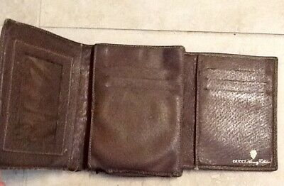 $42 • Buy Authentic Vintage GUCCI Wallet Sherry Line Brown And Tan Monogram