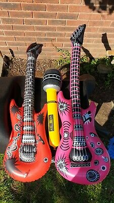 Guitar Bass Microphone Inflatable Toy Instruments Full Band Ready To Party : ) • 6.25£