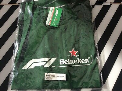 F1 Heineken Formula 1 T Shirt Size Large Licensed Product. BNIB • 15£