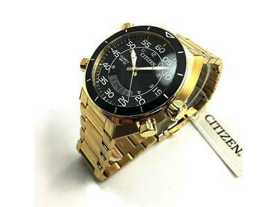 Citizen Sports Ana-digi Mens Watch 50M JM5472-52E Gold Plated Steel UK Seller • 179.95£