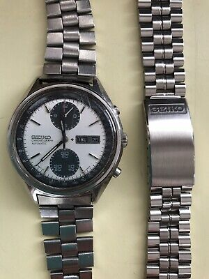$ CDN941.22 • Buy Vintage SEIKO PANDA Automatic Chronograph Watch 6138 - 8020 & New Seiko Bracelet
