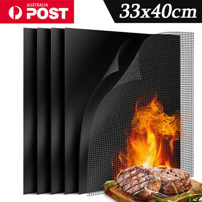 AU12.99 • Buy Mintiml Charcoal BBQ Grill Mesh Mat Non-Stick Cooking Barbecue Liner Sheet AU