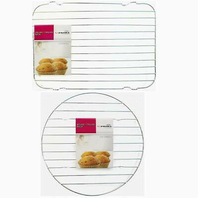 Round Oblong Cooling Rack Steel Cakes Pizza Bread Pies • 7.69£