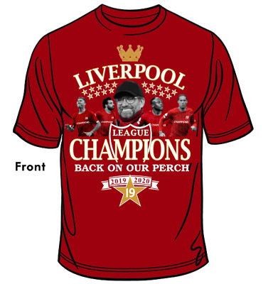 Liverpool Champions Of England T-Shirt 19Times 2020 - RED • 12.95£