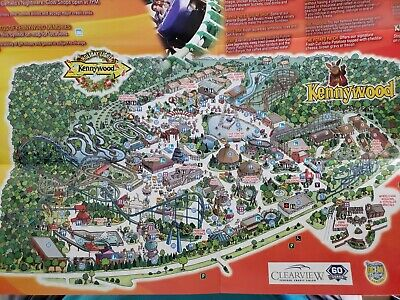 $6 • Buy 2013 Kennywood Amusement Park Map Brochure Guide Pamphlet