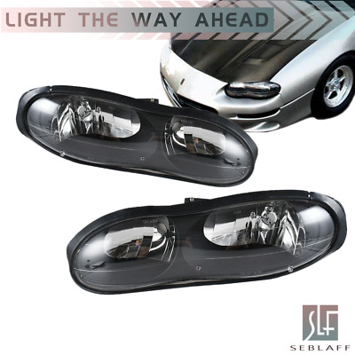 $88.28 • Buy For 1998-2002 Chevy Camaro Z28 Z28 SS Black Clear Headlights Headlamps Assembly