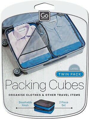 AU26 • Buy Go Travel Packing Cubes Twin Pack- Large Size 2 Piece Set, RRP $27.95