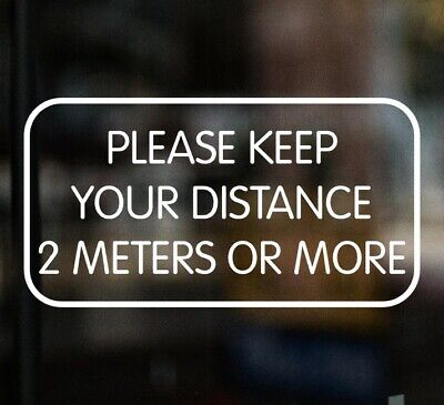 £3.99 • Buy PLEASE KEEP YOUR DISTANCE 2 METRES Shop Sign Window Sticker Cafe Pub Restaurant