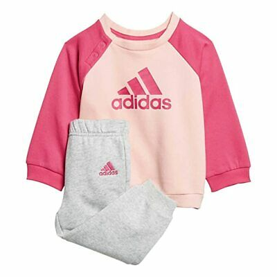 Adidas Girls Pink/grey Infant/baby Tracksuit. Jogging Suit. Various Sizes! • 24.99£