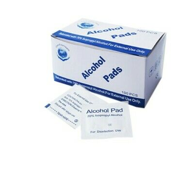 ALCOHOL 75% Swabs Wipes Pads Tattoo Nail CPU Phone Antiseptic Cleanser Cleaning • 3.89£