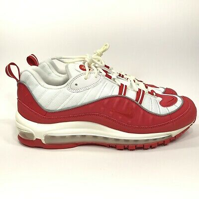 $97 • Buy Nike Air Max 98 Mens University Red Shoes 10 640744-602 ZA00006 - Yellowed Laces