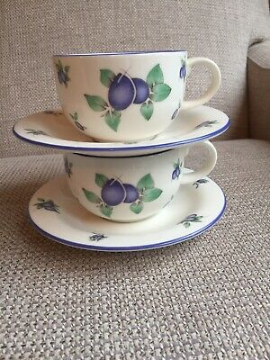 Royal Doulton Everyday Blueberry Cup & Saucer X 2 • 7.99£