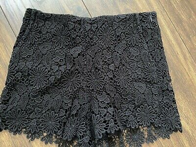 Zara Black Lace Shorts - Size XS • 20£