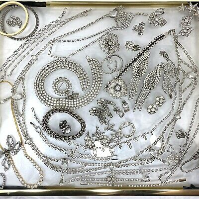 $ CDN54.47 • Buy Vintage 51pc Lot Of Fancy Rhinestone Jewelry Including Signed WEISS Pieces