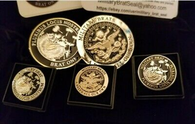 $40 • Buy Military BRAT Seal~SHINY Silver & Gold  Challenge Coin & 3 Pins (4 Pcs Gift Set)